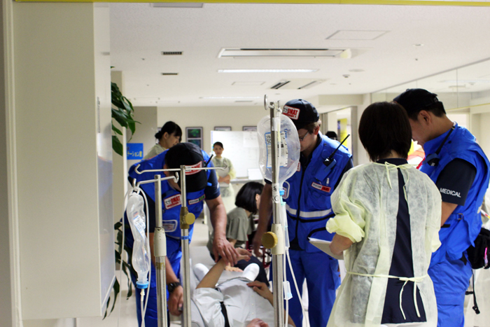 院内災害訓練⑤:病院支援に入る院外DMAT.JPG